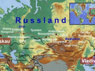 Russland karte transsibirien 1