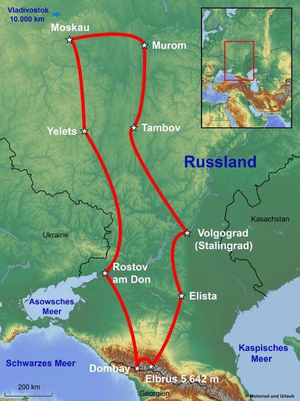 Stalingrad Karte Europa.Motorradreise Russland Stalingrad Und Der Höchste Berg Europas