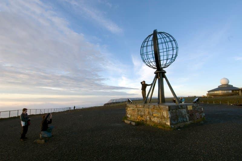 Motorradreise Nordkap ungefuehrt Aussichtsplattform Nordkapplateau 6