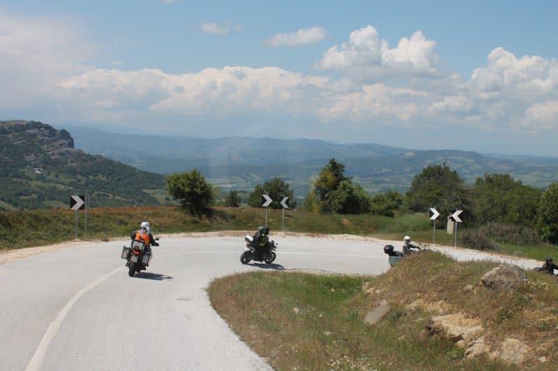 Motorradtour Griechenland Kehre 3