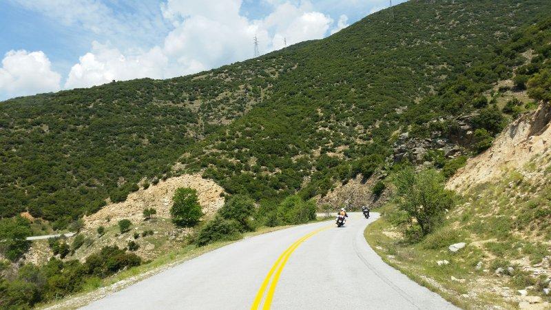 Motorradtour Griechenland Kurven 1