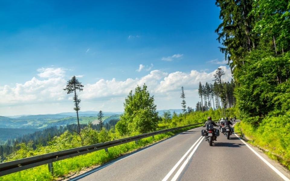 Motorradtour Sued Polen Landschaft Motorrad