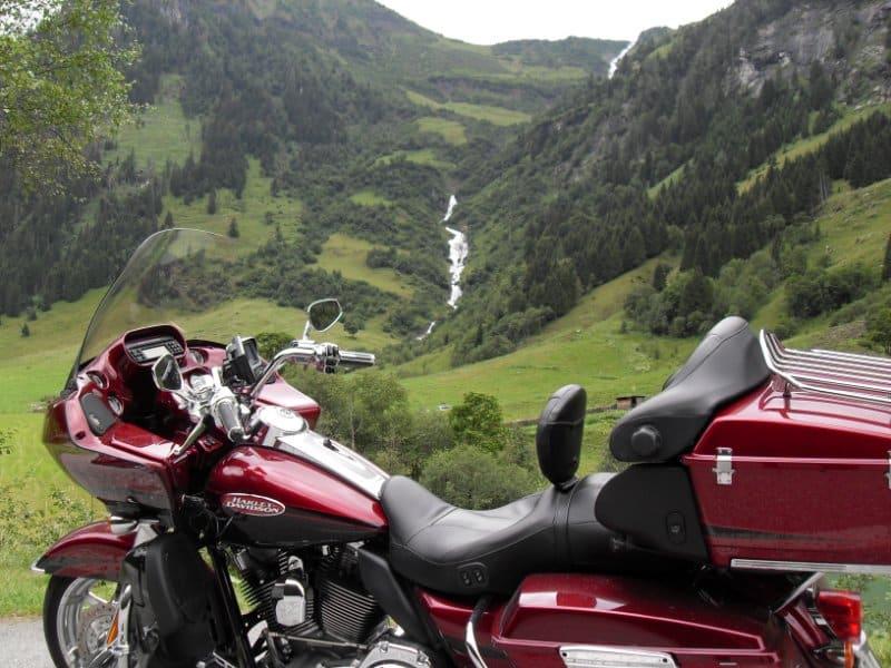 Motorrad am Großglockner