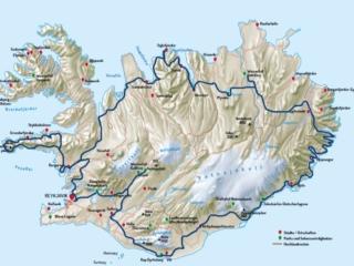 Karte Island Motorrad Reise